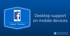 Learn how to use request desktop site in Safari on iOS 8 to request the desktop version of Facebook (or any website) instead of the mobile one!