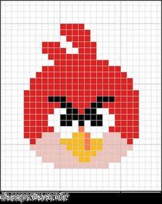 Angry birds #borduur patroon
