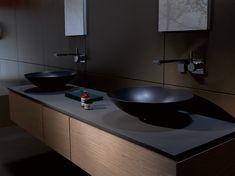 Waskom ALAPE www.alape.com | black | zwart | waskom | badkamer | sanitair | interieur | wastafel | design |