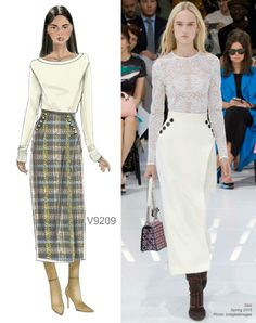 Sew the Look: Vogue Patterns V9209 skirt pattern