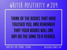 Writer Positivity.