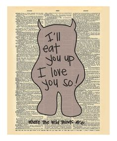Loving this 'Eat You Up' Dictionary Print on #zulily! #zulilyfinds