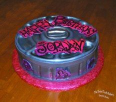 Trash Can Lids Production Cake ~ Gluten Free *  The Sweet Tooth Bakery ~ Maine    www.thesweetttoothbakery.com