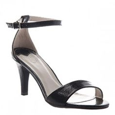 Madeline Marly Black Heeled Sandal (Women)