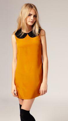 asos gold and black dress