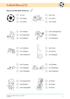 Fußball-WM, Leseaufgaben, Deutsch, 1. und 2. Klasse