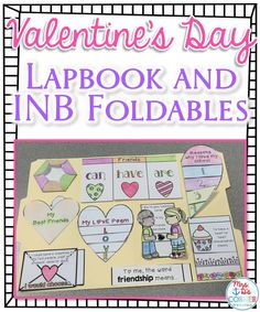 Valentine's Day Interactive Notebook ( INB ) foldables and lapbook template. Low prep activities that gives facts and promotes the deeper meaning of the holiday!