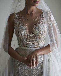Glamorous See Through Wedding Dress