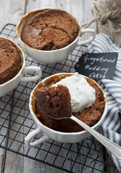 Individual Gingerbread Pudding Cakes