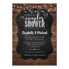 Shop Rustic Couples Shower Invitation created by bydandeliondesign. Personalize it with photos & text or purchase as is! Couples Wedding Shower Invitations, Addressing Wedding Invitations, Wedding Invitations Online, Wedding Invitation Cards, Wedding Couples, Baby Shower Invitations, Custom Invitations, Wedding Ideas, Invites