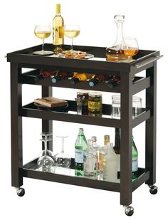 Add style and function to your home with the Pienza Wine & Bar Cart from Herman Miller. On casters, this portable cabinet has a removable serving tray and mirrored shelves to display your favorite bottles and barware, bringing elegance into any room.