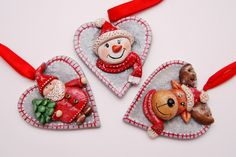 Gohart, salt dough ornaments, chrismas decoration, zawieszki na choinkę, zawieszki z masy solnej, dekoracje na choinkę z masy solnej, zawieszki świąteczne