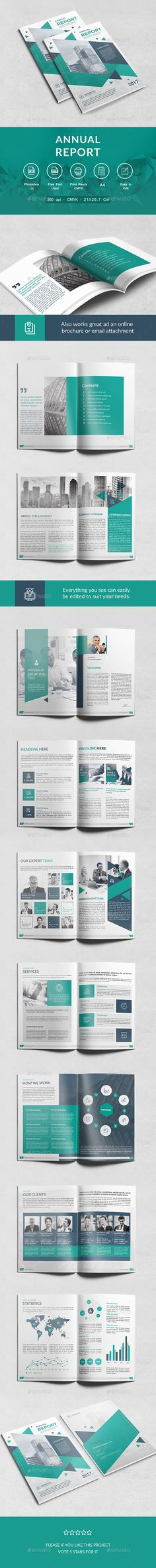 Annual Report Template II on Behance Graphic design Pinterest - report template