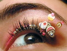 Sweet eye interested >> http://www.etsy.com/listing/77694656/cupcake-eyelash-jewelry-lolita-false