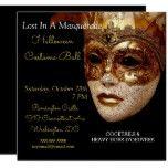Halloween Masquerade Costume Party Invitation #halloween #happyhalloween #halloweenparty #halloweenmakeup #halloweencostume
