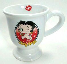 ++Betty Boop Coffee Tea Mug 2006 Boop Oop A Doop Blow Kiss Wink Red Yellow  #BettyBoop2006