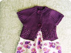 Ravelry: Project Gallery for rejoice ('shrug this' for little girls) pattern by talitha kuomi