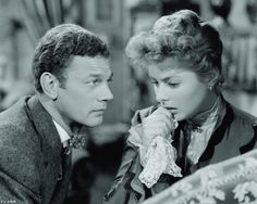 "Joseph Cotton with Ingrid Bergman in ""Gaslight""  (1944)  Ingrid Bergman - Best Actress Oscar 1944"