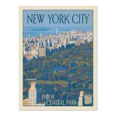 New York Enjoy Central Park Printed Wall Art by Americanflat. Get it now or find more All Wall Art at Temple & Webster.