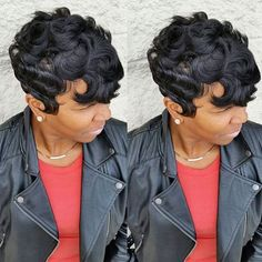 STYLIST FEATURE| Love the texture of this wavy #pixiecut done by #ArlingtonTX stylist @Nikki_H_Stylist✂️ SLAYED❤️ #VoiceOfHair