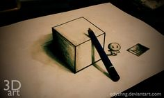 3D Drawing - Art Box by EdyZhng on deviantART - image only
