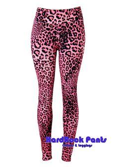Calça Legging Oncinha Rosa ~ Exclusiva!!! #calça #legging #CinturaAlta #AnimalPrint #onça #oncinha #leopard #rosa #pink #visual #glam #HardRock #Anos80 #80's #suplex #fitness #academia #HardRockPants