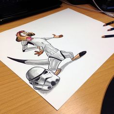 Storm trooper Timon pencil drawing by AtomiccircuS on deviantART