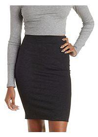 Bodycon High-Waisted Pencil Skirt