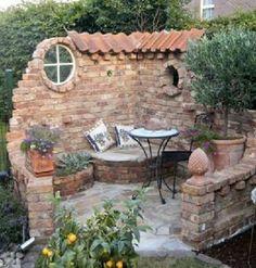 Make a water feature instead of seat - DIY Garten Landschaftsbau