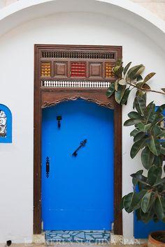 Texture and color.  Sidi Bou Said, Tunis, Tunisia