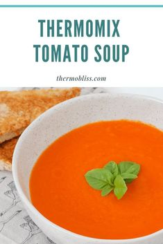 A deliciously healthy Thermomix Tomato Soup recipe based on the original Jamie Oliver recipe. but converted to the Thermomix! Thermomix Soup, Soups For Kids, Tomato Soup Recipes, Healthy Soup, Healthy Eating, Original Recipe, Soups And Stews, Jamie Oliver, Easy Meals