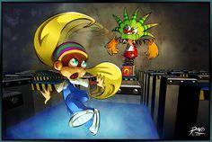 Tiny Kong vs Mad Jack by on DeviantArt Donkey Kong 64, Donkey Kong Country, Super Nintendo, Marvel Cartoon Movies, Banjo Kazooie, Epic Games, Super Smash Bros, Game Art, Videogames
