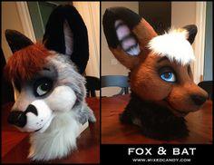 Fox and Bat heads |
