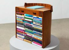 Susan Hiller Lucidity & Intuition: Homage to Gertrude Stein -  2011,  Art Deco writing desk containing  a collection of modified books on automatism and related issues;