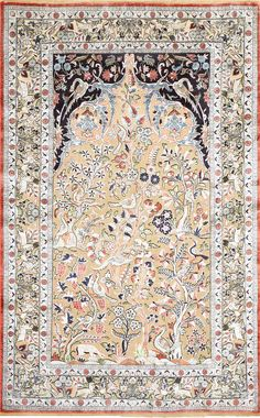 Fine Antique Persian Kashan Souf Prayer Rug 48721