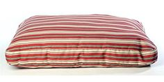 IndoorOutdoor Striped Dog Bed in Green Size Large *** Read more  at the image link.