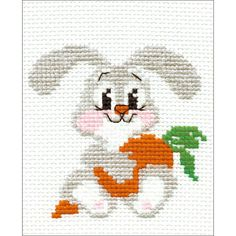 "Lop-Eared Bunny Counted Cross Stitch Kit-5""X6.25"" 10 Count"