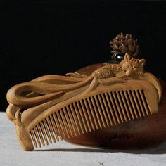 Boutique Hand-carved Sandalwood Craft Comb for Hair Professional Fox Massage Combs Hair Brush Styling Tools Gift For Healthy Viking Beard, Viking Men, Viking Helmet, Beard Brush, Hair Brush, Viking Shop, Wood Comb, Vikings Tv Show, Viking Clothing
