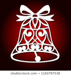Christmas bell for wood carving, paper cutting and christmas decorations. Christmas Stencils, Christmas Paper Crafts, Christmas Sewing, Christmas Projects, Simple Christmas Cards, Christmas Bells, Christmas Wood, Merry Christmas, Christmas Angels