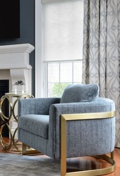 Window treatments add the next level of luxury Smart Home Technology, Blinds For Windows, Windows And Doors, Accent Chairs, Honeycomb Shades, Beautiful Pools, Custom Window Treatments, Custom Built Homes, Custom Windows