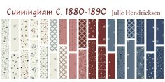 The latest collection by Julie Hendrickson!  Inspired by her antique quilt collection from the past thirty years.  Double pinks, several shades of blue and red combined with light background shirtings are all sought after colors when collecting antique quilts or making quilts for our homes today.  Enjoy this beautiful collection that captures the 19th Century in magnificent prints. #RedWhiteBlue #WindhamFabrics Windham Fabrics, Antique Quilts, Lights Background, Red White Blue, Quilt Making, Shades Of Blue, 19th Century, The Past, Quilting