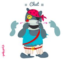 "Langue des signes pour bébé, signer ""Chat"" Illustration #babysign #signeravecbebe"