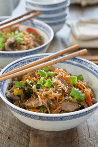 Korean Beef and Vegetable Noodle Bowl {Paleo}