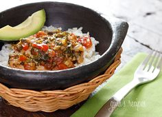Sofrito Chicken Stew - My favorite way to eat this is served over rice with a slice of avocado.