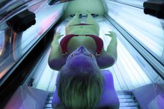 Great news! Because of increased cancer risk, the FDA has ruled that tanning beds/booths must carry labels warning against use by those under the age of 18.