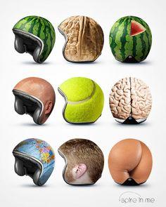 Unusual Motorcycle Helmets: Love the globe Helmet!