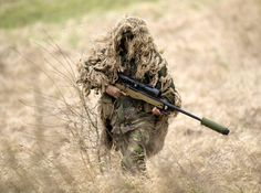 Are you interested in learning more about Airsoft Sniper Rifles? Check out our article and find out all there is about Snipers and check out our list of top Airsoft sniper rifles Airsoft Sniper, Airsoft Guns, Ghillie Suit, The Sniper, Sniper Suit, Sniper Gear, Us Marines, Royal Marines, Camouflage