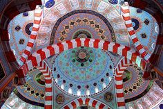 Interior view of the Jalil Khayat mosque in Erbil, Northern Iraq, (Iraq).