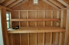 How to Build Shed Storage Shelves - One Project Closer