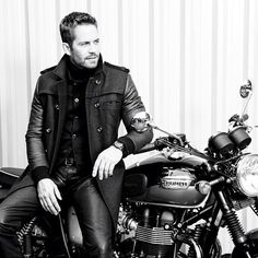 GQ Cover Shoot Triumph Bonneville Blackandwhite Paul Walker